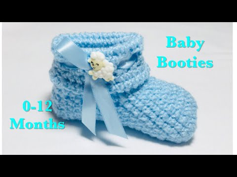 Crochet baby / boy / girl booties for 0-12 months - easy to make #123