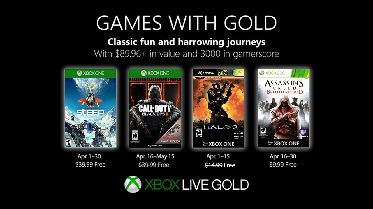 Xbox April 2019 Games With Gold April Xbox Games With