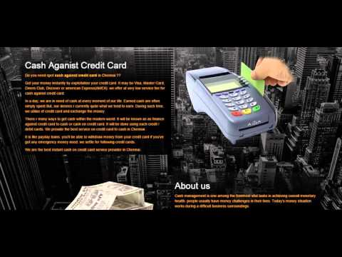 Cash Against Credit Card In Chennai