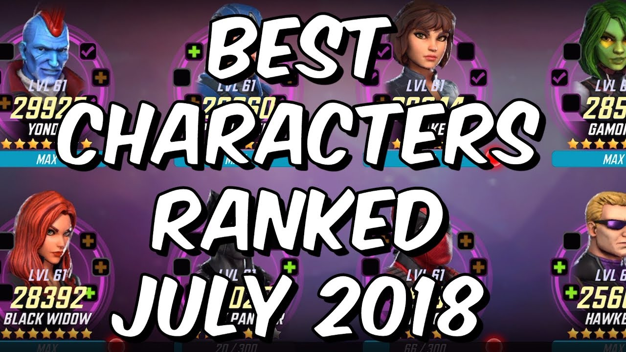 91b1739a11a9 Best Characters Ranked July 2018 - Seatin s Tier List - Marvel Strike Force