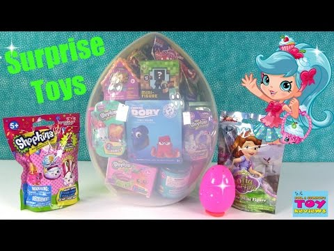 Thumbnail: Shopkins Giant Surprise Egg #3 Disney Animal Jam My Little Pony Toy Opening | PSToyReviews
