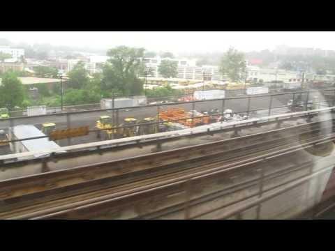 Metro train ride from Union Station to Rhode Island Avenue, Washington DC, USA.