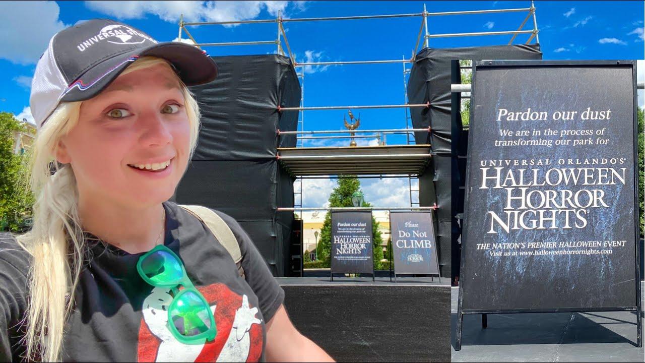 Universal Studios Halloween Horror Nights 2021 MAJOR Construction UPDATE + New Merchandise! HHN30