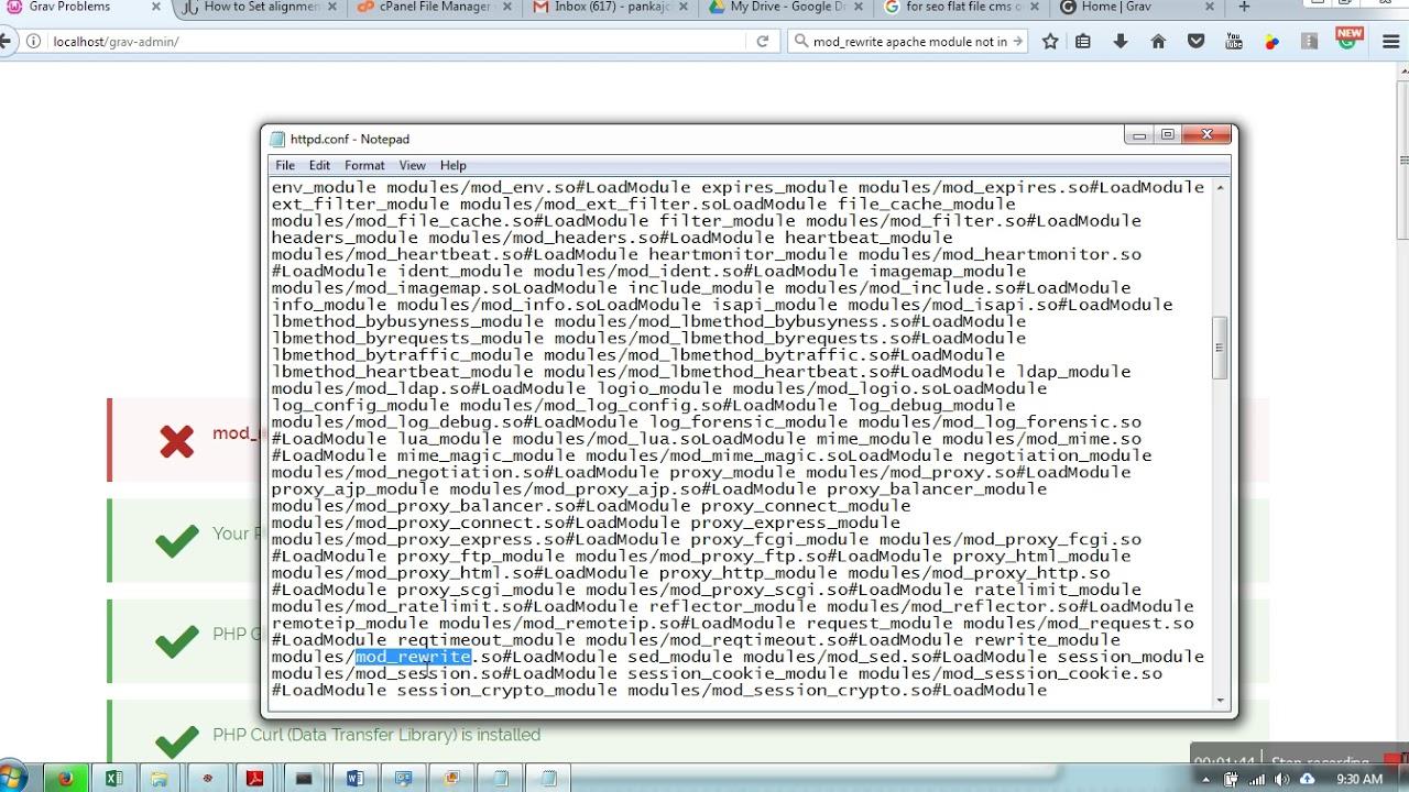 apache enable mod_rewrite centos