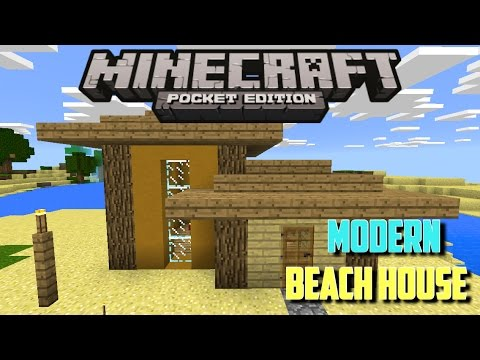 How to build a modern beach house in minecraft pe mcpe for Modern house minecraft pe