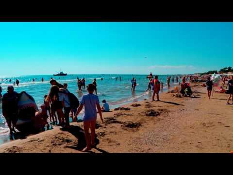 Анапа пляж Джемете видео 26 июня 2017 года welcometoanapa.ru