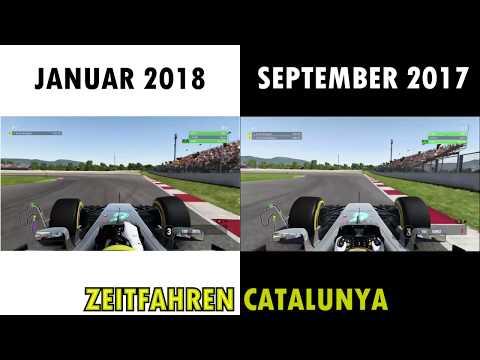F1 2017 HOTLAP CATALUNYA (1:17.676) ALTES SETUP VS NEUES SETUP (SETUP-TRENDS)