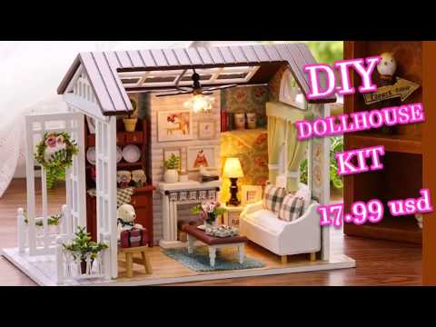 Forest Times Kits Wood Dollhouse Miniature DIY House Handicraft Toy Idea Gift Happy times