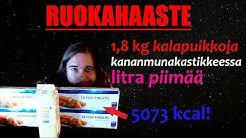 Ruokahaaste | 1,8 kg kalapuikkoja kastikkeessa ja litra piimää! | #11
