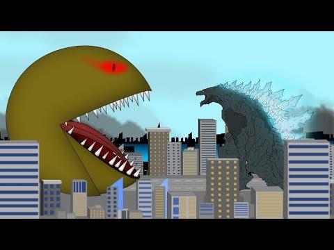 Godzilla Earth Vs Evolution Of Pac-Man Giant Attack: Size Comparison   Godzilla Movie