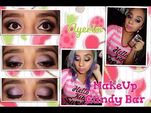 Maquillaje Rosa, Plata y Uva con Candy Bar - Makeup Candy Bar
