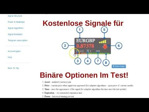 Binare Optionen Signale Kostenlos Binare Optionen Signal