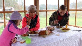 Деревенский ужин на костре