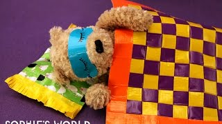 How to Make a Duct Tape Woven Blanket for your Teddy Bear