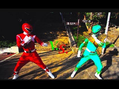 GREEN RANGER VS RED RANGER!?