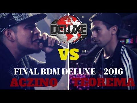 Aczino vs Teorema - Final / BDM Delux 2016. ( Batalla de Maestros )