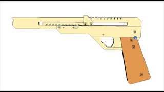 Elastic Band Gun Or Rubber Band Plans For Cnc Laser Or Router Cutting Dxf