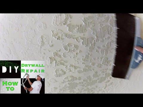 Skip Trowel Texture- Ceiling Drywall Repair Trick (Part 3)