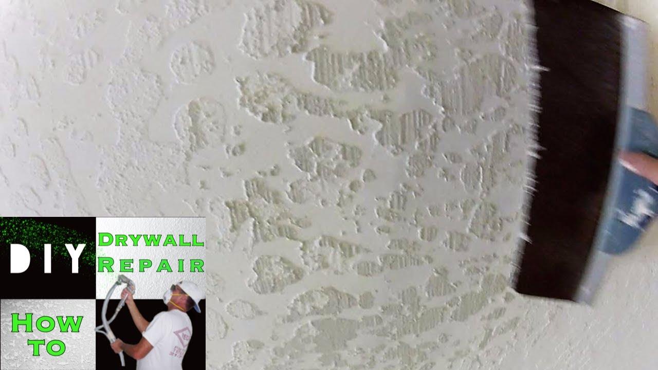 Skip Trowel Texture Ceiling Drywall Repair Trick Part 3