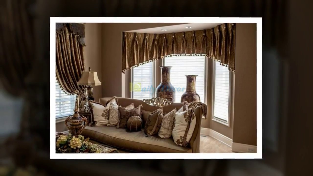 Bay Window Curtain Ideas For Living Room Rooms With Light Brown Couches Daily Decor Youtube