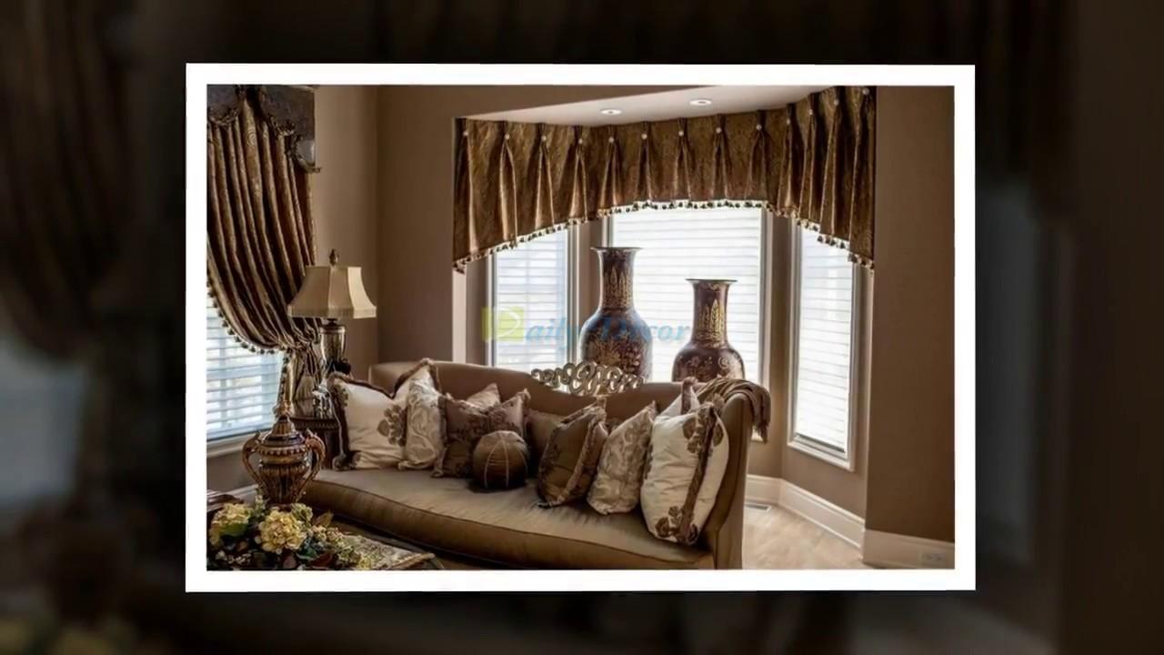 daily decor living room bay window curtain ideas