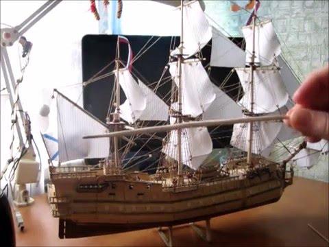 Корабль из палочек от мороженого своими руками