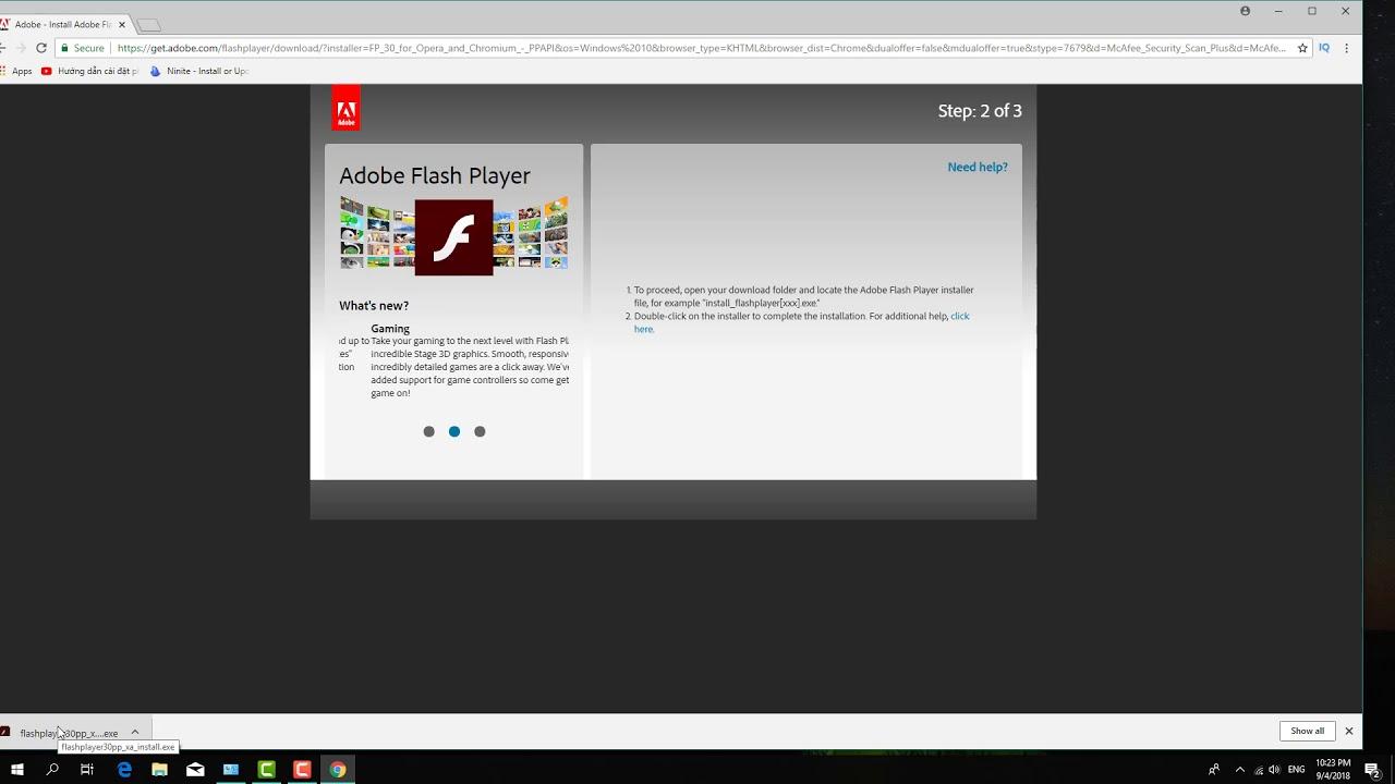 Hướng dẫn cài adobe Flash player cho máy tính