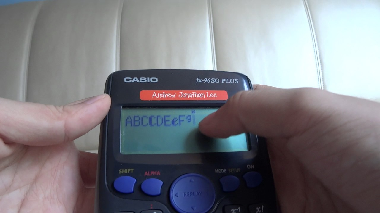 The Whole Alphabet With A Calculator