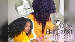 90 Day Hair Growth Challenge!   Grow Hair Fast!