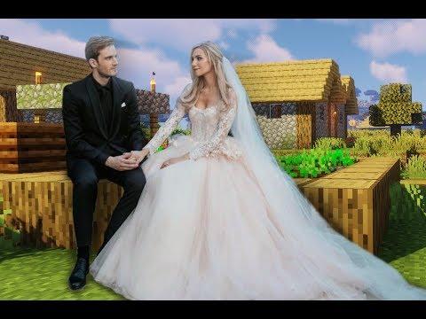 PewDiePie Gets a Minecraft Wife | PewDiePie and Marzia