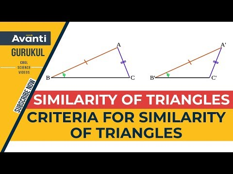 Class 10 Mathematics - Criteria for Similarity of Triangles