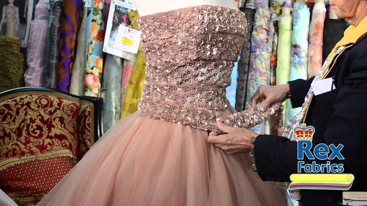 Telas para un vestido de fiesta