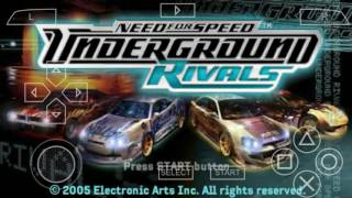NEED FOR SPEED UNDERGROUND RIVALS NO ANDROID (EMULADOR PPSSPP )