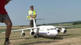 giant bae 146 300 jumbolino unusual rc airliner model