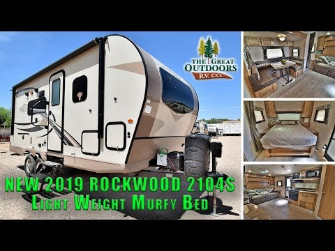 New 2019 ROCKWOOD 2104S Mini Lite Lightweight Travel Trailer Murphy Bed Colorado RV Dealer