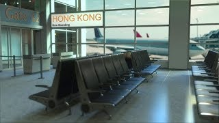 Hong Kong Flight Boarding in the Airport Travelling To China | Videohive Project Templates