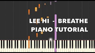 한숨 (Breathe) - 이하이 ( LEE HI  ) Piano Tutorial