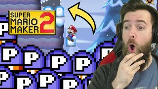 You Must Do 340 Consecutive P-Switch Jumps...  BUT THAT'S NOT ALL. [SUPER MARIO MAKER 2]