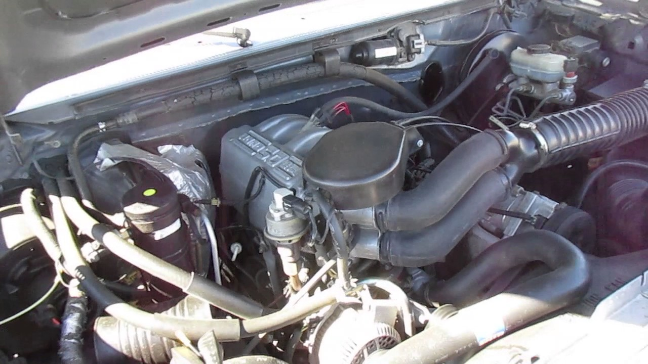 1995 Silver Ford F-150 Engine