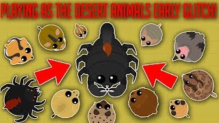 MOPE.IO / HOW TO USE DESERT ANIMALS EARLY GLITCH! / NEW DESERT ANIMALS UPDATE GAMEPLAY! (Mope.io)