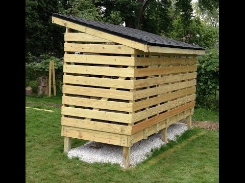 How to build a wood shed from scratch ~ Hanike