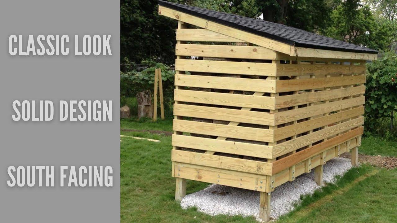 how to build firewood storage