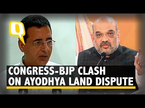 Congress, BJP Clash On Ayodhya Land Dispute