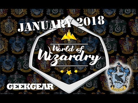 Harry Potter : January 2018 World of Wizardry GeekGear Monthly Subscription Box : Ravenclaw