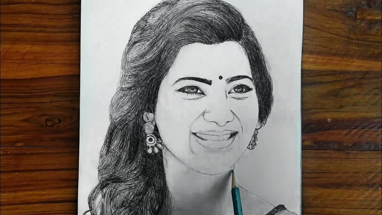 Samantha Pencil Drawing By Vishweswar Arts Pencil Drawing Sketch Samantha Akkineni Youtube