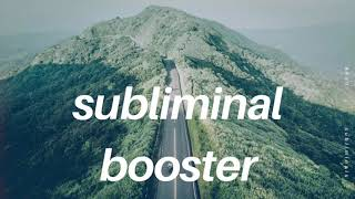 Get Full Subliminal Results In Seconds - SUBLIMINAL BOOSTER