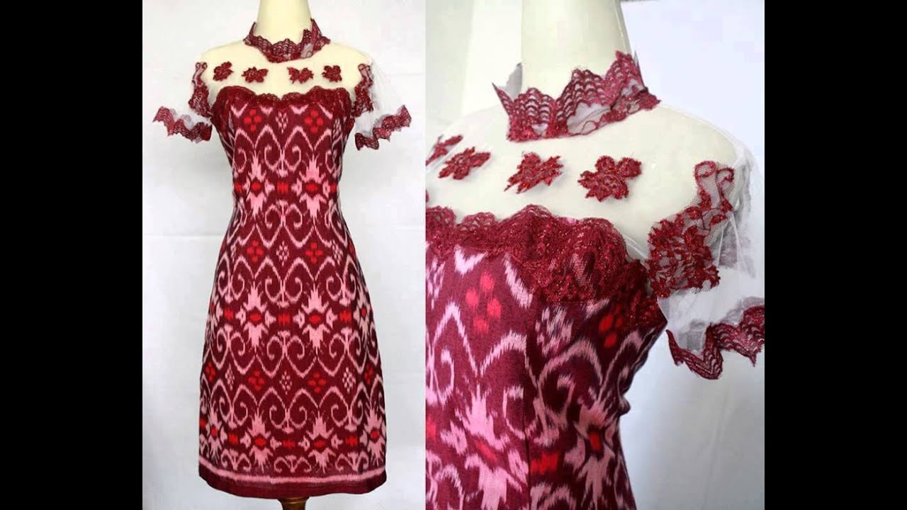 Dress Model Tenun Tile Baju Pesta Terbaru