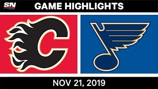 NHL Highlights   Flames vs. Blues – Nov. 21, 2019