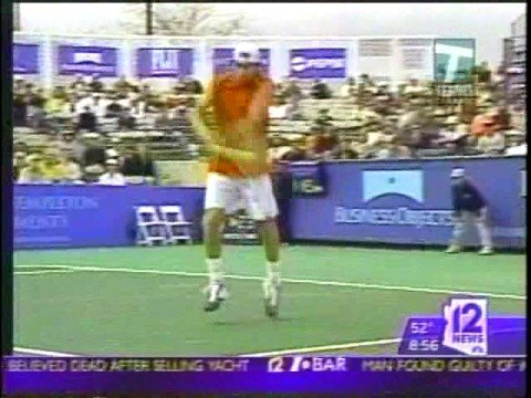 """Tennis Channel Open- Interview with founder and president Steve Bellamy on """"12 News Weekend Today"""" in Phoenix during the tournament."""
