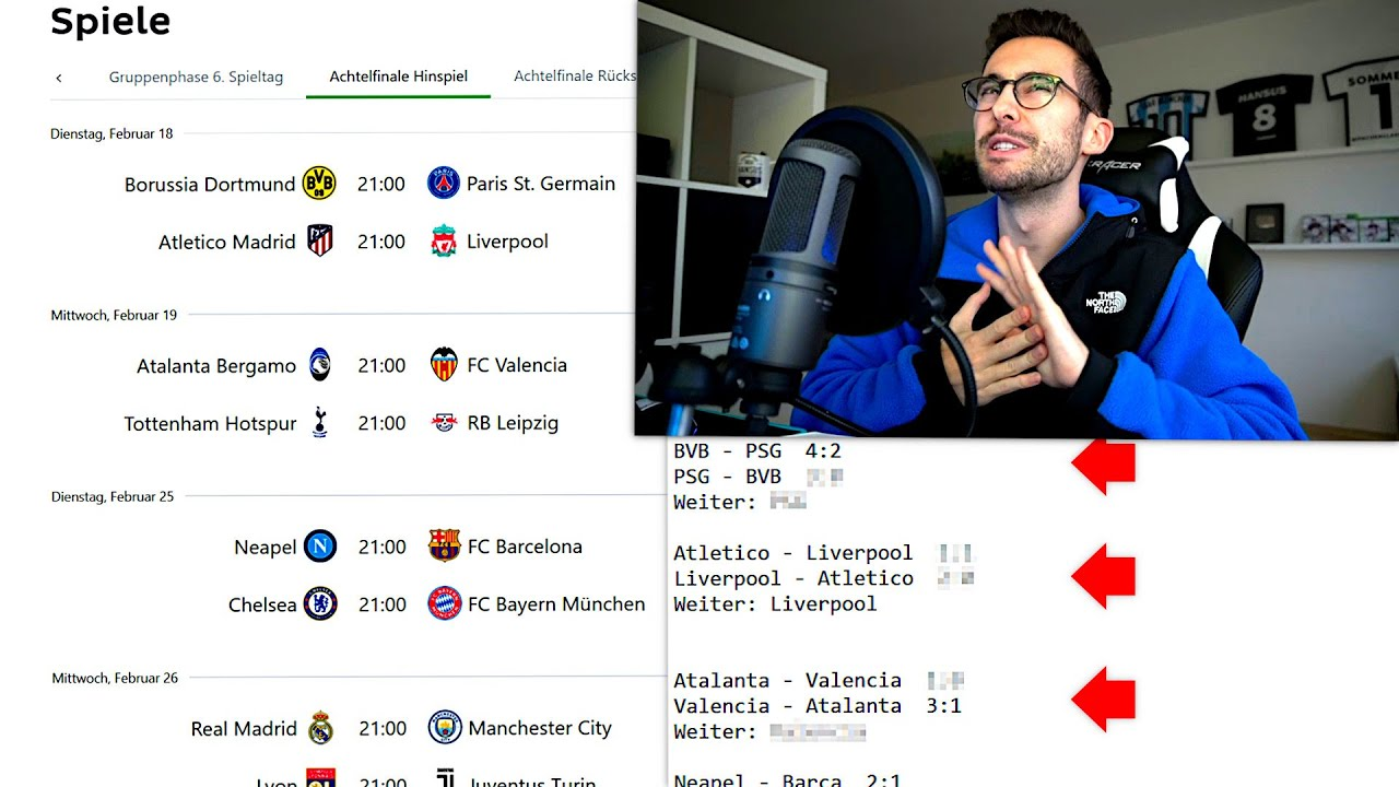 Tipps Champions League